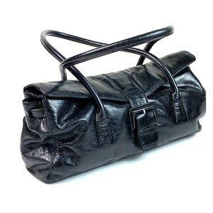 HOBO fold over buttery leather shoulder bag purse